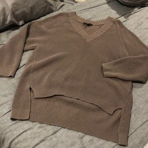 High low oversized sweater